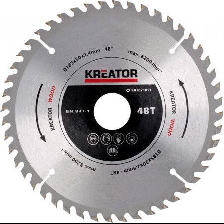 صفحه برش چوب 185 میلیمتری برند کریتور مدل KRT021051