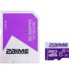 کارت حافظه microSDHC پرایم کلاس 10-UHS-I U1-8GB