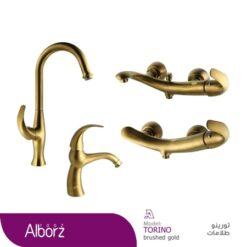 شير آلات البرز روز مدل Torino Gold Maat